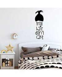 Sales For Girl S Room Wall Decal Troll Hair Don T Care Children Or Teen Vinyl Decoration For Bedroom Or Playroom Decor