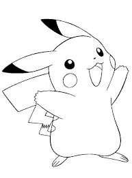Pikachu Kleurplaat Inkleuren