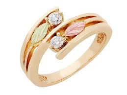 black hills gold diamond ring by