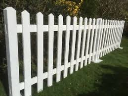 White Primed Wooden Free Standing Picket Fencing Events Exhibition White Ebay