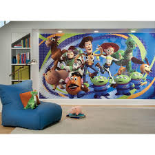 Roommates Toy Story 3 Chair Rail Prepasted Mural 6 Ft X 10 5 Ft Ultra Strippable Wall Applique Us Mexico Russia Jl1204m The Home Depot