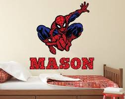 Spiderman Wall Decal Etsy
