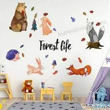 Jungle Theme Nursery Wall Decals Woodland Animal Wall Decals For Baby Bedroom Ebay