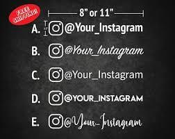 Instagram Decal Etsy