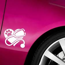 2020 13 11 5cm Vet Decal Veterinary Tech Veterinarian Pet Vinyl Car Wrap Window Bumper Sticker Car Decor From Xymy767 2 92 Dhgate Com