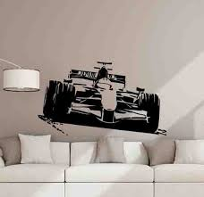 Formula One Wall Decal Racing Car Formula 1 Poster Racer Boy Etsy