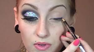 cut crease glitter makeup tutorial