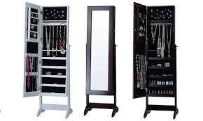 cheval mirrored jewelry armoire