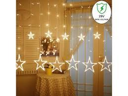 Led Star Curtain String Light 138 Leds Fairy Hanging Strip Lamp Window Christmas Light For Bedroom Kids Room Wedding Party Hallowen Birthday Tree Supplies Newegg Com
