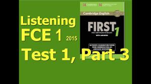 listening b2 fce 1 2016 test 1
