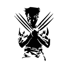 Wolverine Silhouette X Men Vinyl Decal Sticker