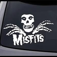 Amazon Com Jcm 2x Misfits Fiend Skull Vinyl Decal Sticker 6 X 3 7 Choose Color Home Kitchen