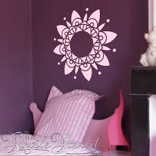 Mandala Vinyl Wall Decal Large Wall Art Mandala Decals Simple Stencils