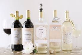 6 printable wine bottle labels for