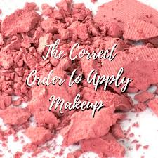 correct order to apply makeup s