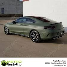 Matte Military Green 3m Vinyl Wrap Metro Restyling
