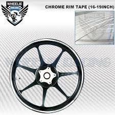 Chrome Mirror Rim Tape Wheel Stripe Moto Car Bike Decal Sticker 16 17 18 19 Inch Ebay