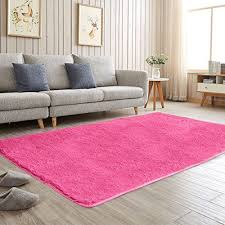 Kids Living Room Decor Aicehome Area Rug Soft Girls Bedroom Rug Fluffy Thicken Anti Slip Bottom For Home Din Red Kids Rooms Girls Bedroom Rug Kids Living Rooms