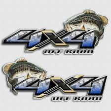 4x4 Fishing Truck Decals Off Road Angling Vehicle Stickers