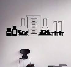 Amazon Com Laboratory Glass Wall Decal Vinyl Sticker Chemistry Classroom Art Decor Home Interior Room Custom Design Window Home Kitchen