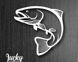 Trout Decal Etsy