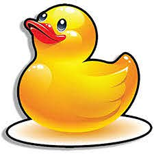 Amazon Com American Vinyl Rubber Duckie Shaped Sticker Funny Duck Kids Cute Decal Automotive