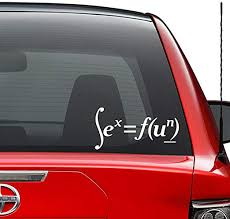 Amazon Com Funny Sex Education Math Vinyl Decal Sticker Car Truck Vehicle Bumper Window Wall Decor Helmet Motorcycle And More Size 7 Inch 18 Cm Wide Color Gloss White Home Kitchen
