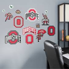 Fathead Ohio State Buckeyes Logo Assortment Large Officially Licensed Removable Wall Decals Walmart Com Walmart Com