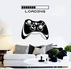 Gaming Vinyl Wall Decal Art Joystick Loading Video Game Stickers Uniqu Wallstickers4you
