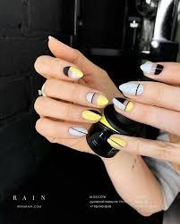 Pin by Bana on Nails   Yellow nails, Yellow nail art, Trendy nails