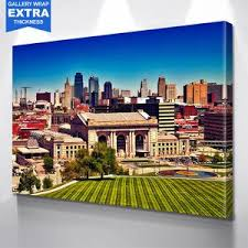 Painting Kansas City Skyline Wall Art Zapwalls