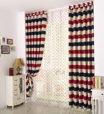 Red Blue Beige Stripe Design Curtains Kids Children Bedroom Thick Blackout Curtains Uk Dot Sheer Curtain Window Living Room Aa5 Thick Blackout Curtains Blackout Curtains Ukcurtains Uk Aliexpress