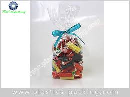 clear cellophane bag with gusset bopp