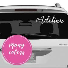 Name Car Decal Name Stickers For Car Name Decal For Car Etsy