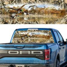 1x Rear Window Graphic Decal Mallards Duck Tallgrass Hunting Camouflage Pick Up Ebay
