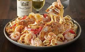 en and shrimp carbonara lunch