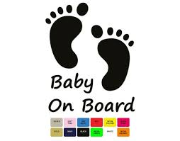 Baby On Board Iron On Decal Easy To Do Htv Decal Cute Baby Etsy