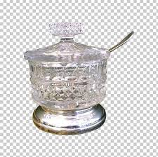 sugar bowl glass spoon lid png clipart