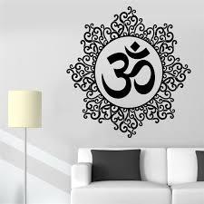 Pinturas Murais Big Mandala Vinyl Wall Decal Yoga Sticker Menhdi Lotus Large Pattern Ornament Om Indian Mural Home Decor Home Decor Decoration Patternyoga Stickers Aliexpress