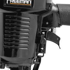 Freeman Pfs105 Pneumatic 10 5 Gauge 1 9 16 Fencing Stapler With Case Ergonomic And Lightweight Staple Gun With Tool Free Depth Adjust And Quick Release Nose Amazon Com