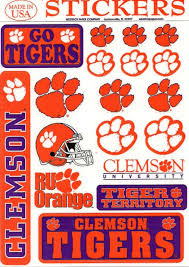 Ncaa Clemson University Tigers 5x7 Inch Variety Vinyl Small Car Stickers For Sale Online Ebay