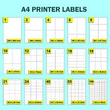 Labels Self Adhesive Sticky A4 Address Stickers Sheets For Inkjet Laser Printers Ebay