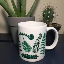 A Fern Frenzy Mug Vinyl Mug Decal Mug Outdoor Gifts Floral Etsy