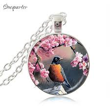 necklaces birds jewelry rose flower