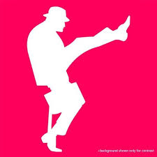 Monty Python Ministry Of Silly Walks Window Decal Monty Python Graphic Design Logo Monty Python Flying Circus
