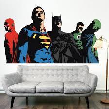Justice League Wall Decal Superman Batman Wall Art Kids Bedroom Wall D American Wall Designs