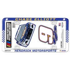 Chase Elliott 2020 Plastic License Plate Frame Decal 2 Pack Set