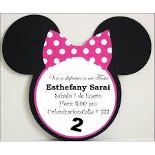 Tarjetas De Invitacion Minnie Mouse Fiestas