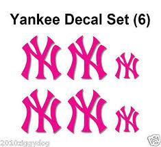 6 New York Yankee Decal Stickers Ny Window Sticker Hot Pink Yankee Girl Ebay