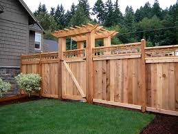 wood privacy fence designs wood fence